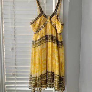Nine West Women's Yellow Print Dress